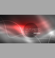 neon lines wave background abstract composition vector image vector image