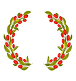 Olive Wreath or Olive Crown with Red Fruit vector image vector image