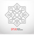 oriental 3d pattern with white arabesques vector image