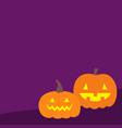pumpkin set happy halloween scary landscape funny vector image