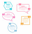 quotation quotation speech bubbles set vector image vector image