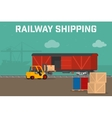 Railway logistic transport delivery service vector image