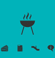 roaster bbq icon flat vector image vector image