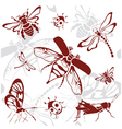 Seamless background insects vector | Price: 1 Credit (USD $1)