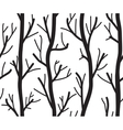 Seamless black and white background with trees vector image vector image