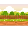 Seamless cartoon country landscape vector image vector image