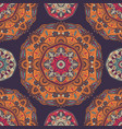 seamless pattern with ornamental floral ethnic vector image vector image