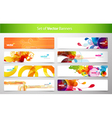 Set of abstract colorful web headers vector | Price: 3 Credits (USD $3)