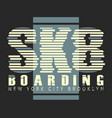 skate board brooklyn typography vector image