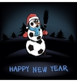Snowman of soccer balls vector image