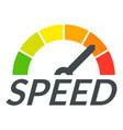 speedometer design logo flat style vector image