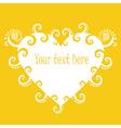 Sunny heart banner vector image