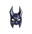 superhero mask with horns on a vector image vector image