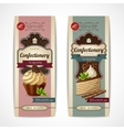 Sweets vintage banners vertical vector image vector image