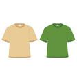 t-shirt khaki and green vector image vector image