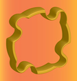 three dimensional golden flange on an orange vector image vector image