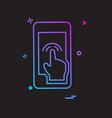 touch phone icon design vector image