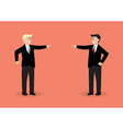 Two angry businessman are shouting on each other vector image