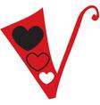 Valentine Font V vector image vector image