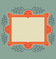 Vintage design template Retro card with frame and vector image vector image