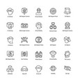 virtual reality line icons set vector image vector image