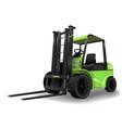 warehouse forklift green vector image