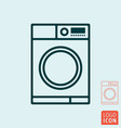 washing machine icon wash laundry line design vector image