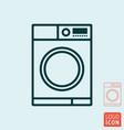 washing machine icon wash laundry line design vector image