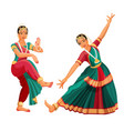 woman dancer in national indian cloth dancing vector image vector image