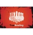 Bowling logo design Bowling poster design vector image