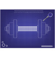 3d model of dumbbells on a blue vector image vector image