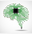 abstract technological brain cpu circuit board vector image