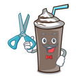 barber ice chocolate character cartoon vector image vector image
