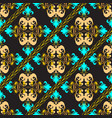 baroque ornate seamless pattern ornamental vector image vector image