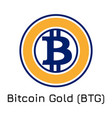 bitcoin gold btg crypto co vector image