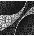 black and silver background vector image vector image