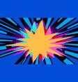 blue pop art background vector image vector image