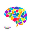 bright and colorful bain logo vector image vector image