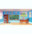 chemistry cabinet classroom laboratory interior vector image vector image