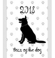 chinese new year 2018 zodiac dog vector image