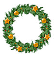 christmas wreath colored artistic graphic vector image