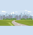 cityscape background buildings silhouette vector image