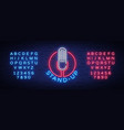 comedy show stand up invitation is a neon sign vector image vector image