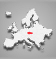 czech republic country location within europe 3d vector image vector image