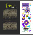 dance party night club poster disco ball and vector image vector image