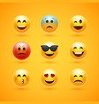 emoticon face smile icon emotion happy vector image