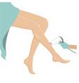 female legs hair removal laser epilation concept vector image