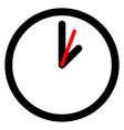 flat clock wall clock symbol on white vector image