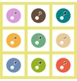 flat icons set of Business pie chart and head vector image vector image