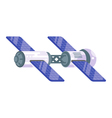 flat style of space station with solar cells vector image